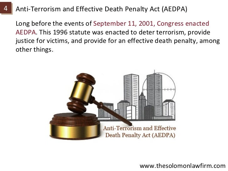 an analysis of the anti terrorism and effective death penalty act aedpa and illegal immigration refo Such as the illegal immigration reform and and effective death penalty act (aedpa) to intercept and obstruct terrorism (usa patriot) act of.