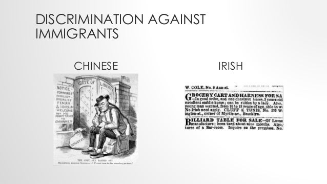 discrimination of immigrants essay Keep in mind that these essays are for inspiration only and we don't recommend using them for your college assignments  discrimination is as old as the human.