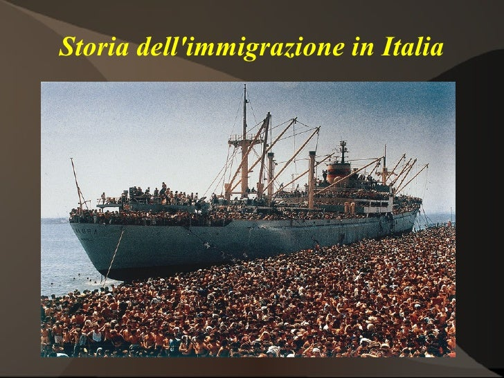 Storia dellimmigrazione in Italia              immagine