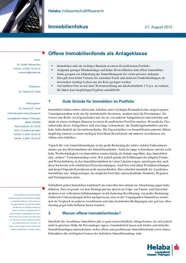 Helaba Volkswirtschaft/Research                                                    Immobilienfokus                        ...
