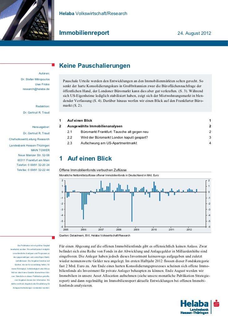Helaba Volkswirtschaft/Research                                                    Immobilienreport                       ...