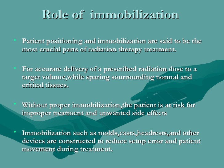 Immobilization In Radiotherapy