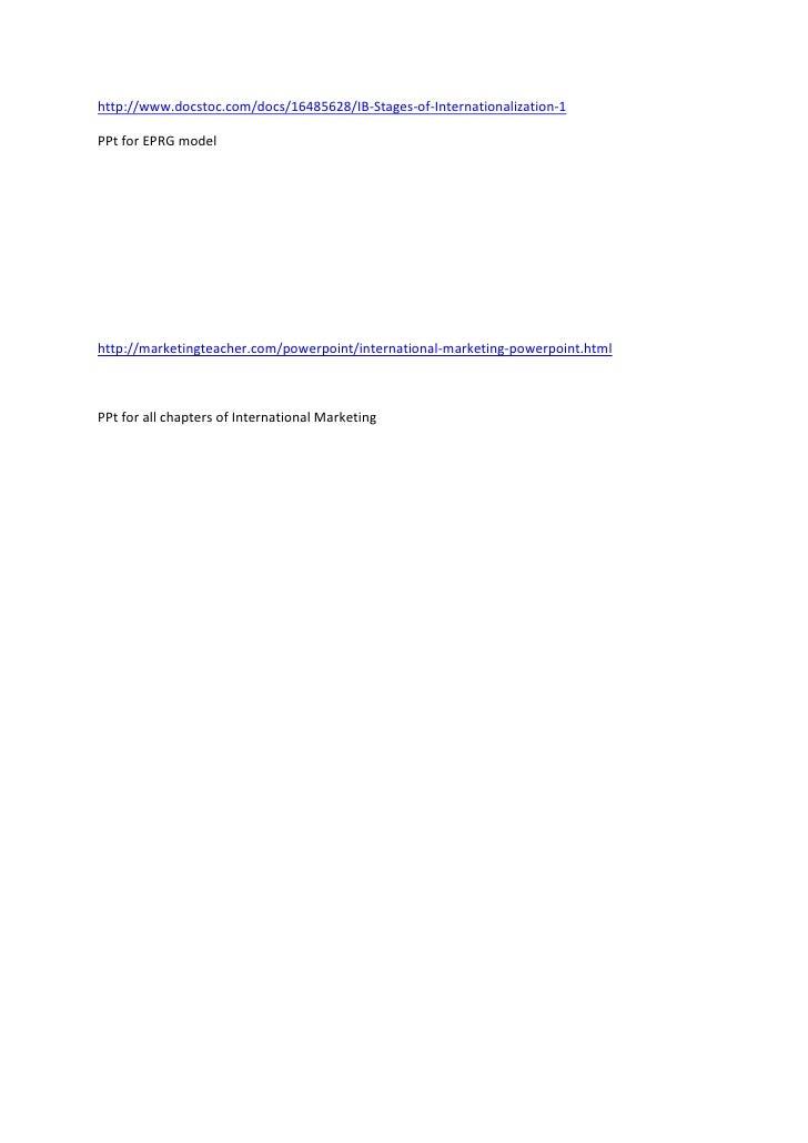 "HYPERLINK ""http://www.docstoc.com/docs/16485628/IB-Stages-of-Internationalization-1"" http://www.docstoc.com/docs/16485628..."