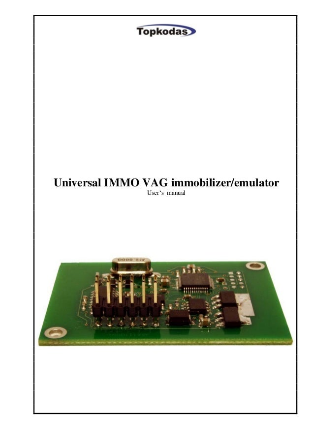 Universal IMMO VAG immobilizer/emulator User's manual