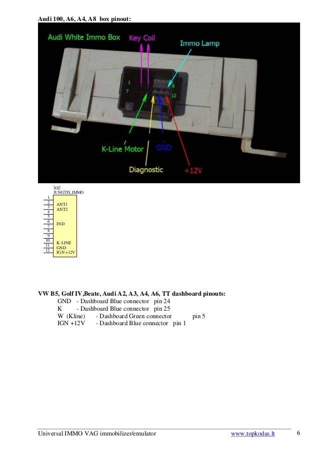 universal immo vag immobilizer emulator user\u0027s manualAudi A4 Immobilizer Wiring Diagram #12