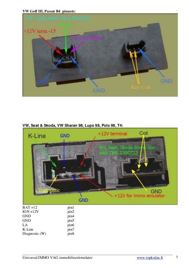 Universal IMMO VAG immobilizeremulator Users manual