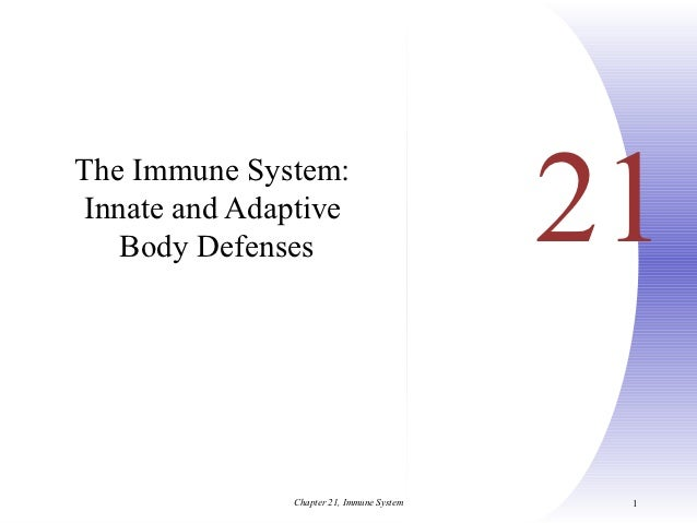 The Immune System:Innate and Adaptive   Body Defenses                           21               Chapter 21, Immune System...