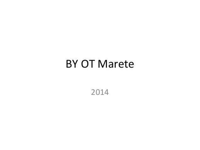 BY OT Marete 2014