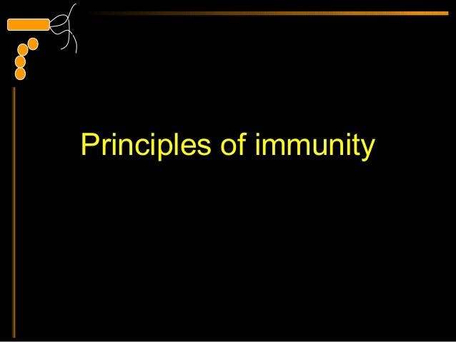 Principles of immunity