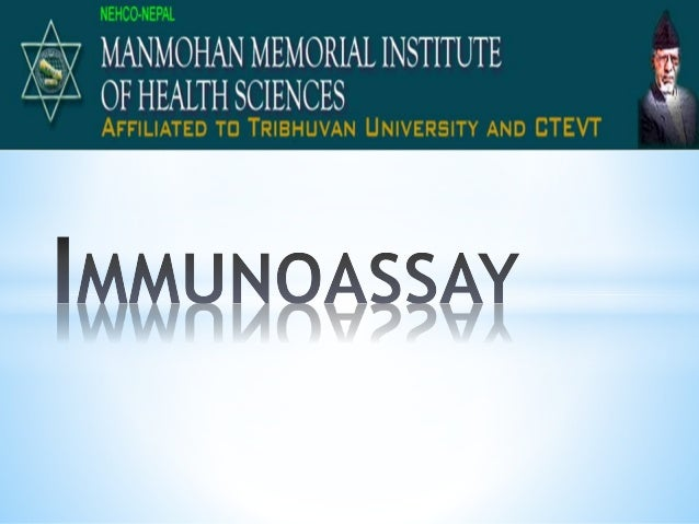 An immunoassay is a test that uses antibody and antigen complexes as a means of generating a measurable result