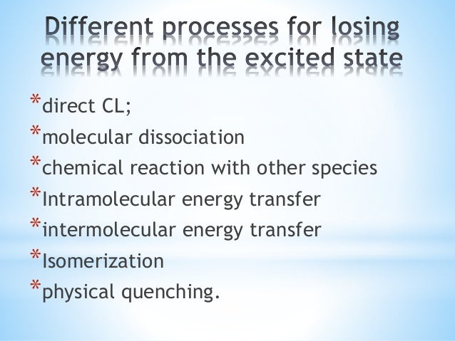 *The fraction of molecules emitting a photon on return to the ground state is the quantum yield (φcl). It is the product o...