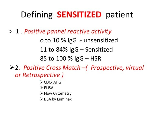 Management Of Sensitized Kidney Transplant Recipient By