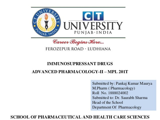 Submitted by: Pankaj Kumar Maurya M.Pharm ( Pharmacology) Roll No. 1888024002 Submitted to: Dr. Saurabh Sharma Head of the...