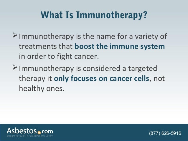 Understanding Immunotherapy For Mesothelioma