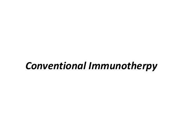 Conventional Immunotherpy