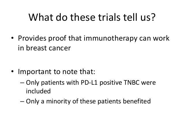 FIRST LINE TNBC Protocol # Short Title 15-241 Phase 3 Abraxane +/- Atezolizumab (anti-PDL1) 15-307 Phase 1/2 Eribulin + Pe...