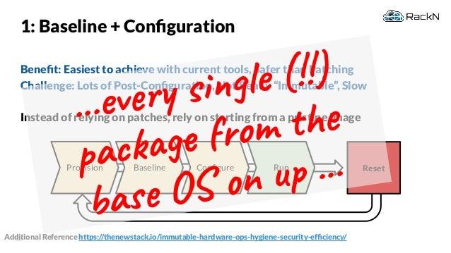Immutable Infrastructure & Rethinking Configuration