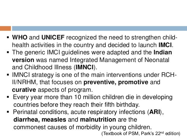 Integrated management of Neonatal and Childhood illness among Infants of 0 to 2 months Slide 3