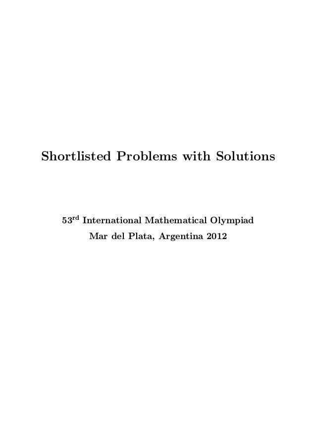 IMO 2012 PROBLEMS EBOOK