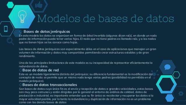 Modelos de bases de datos ◇ Bases de datos jerárquicas En este modelo los datos se organizan en forma de árbol invertido (...