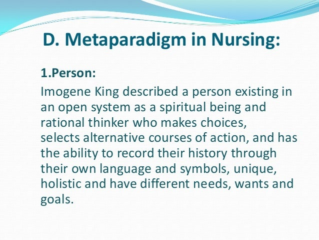 metaparadigm theories with nursing