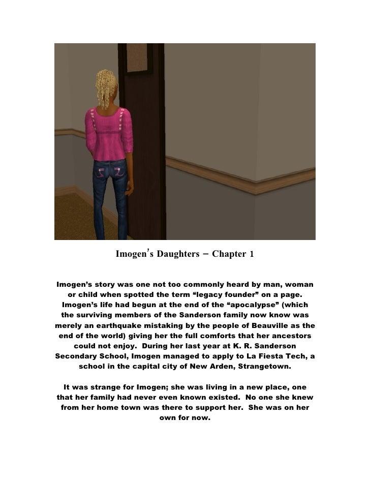 Imogen's Daughters - Chapter 1