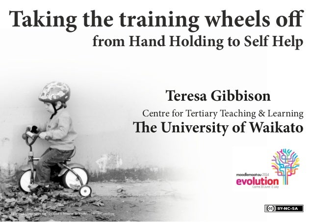 Teresa Gibbison Centre for Tertiary Teaching & Learning from Hand Holding to Self Help BY-NC-SA - Sometimes You Just Need ...