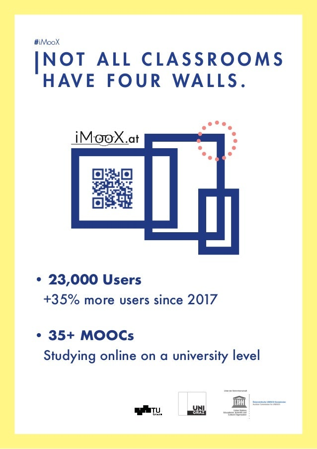 • 23,000 Users  +35% more users since 2017 • 35+ MOOCs  Studying online on a university level N O T A L L C L A S S R O ...