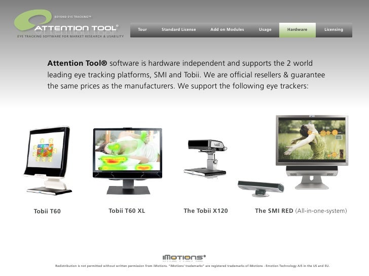 sales@attentiontool.com           BEYOND EYE TRACKING™                                                   ®                ...