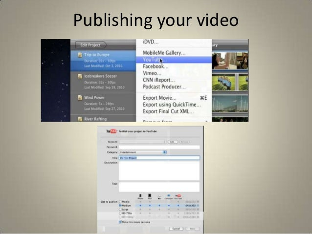 how to get a youtube video into imovie