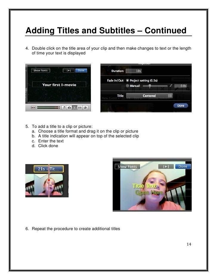 imovie 09 manual rh slideshare net iMovie Icon 11.0 Ideas for an iMovie