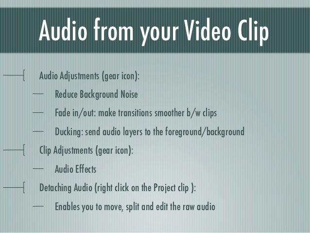 iMovie Audio Editing