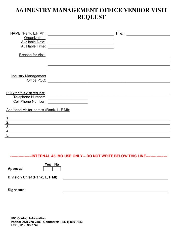 Imo Visit Request Form
