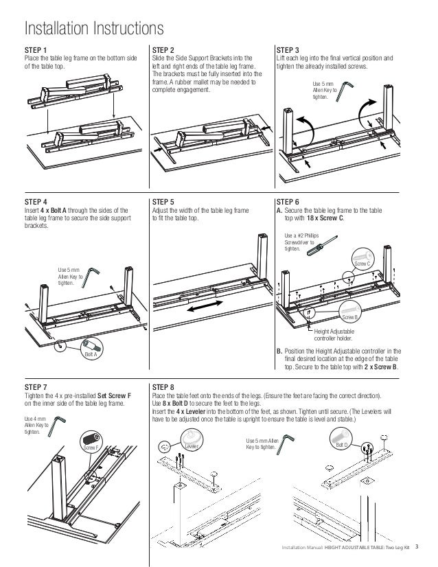 Imovr Vigor 2 Leg Kit Installation Manual