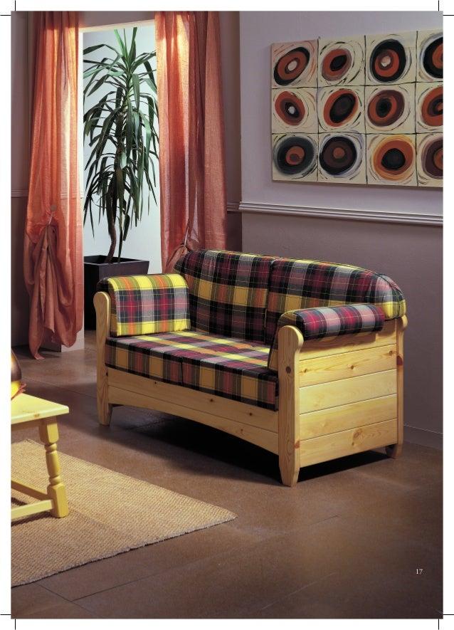 Collezione divani legno massiccio - Divano letto pino ...