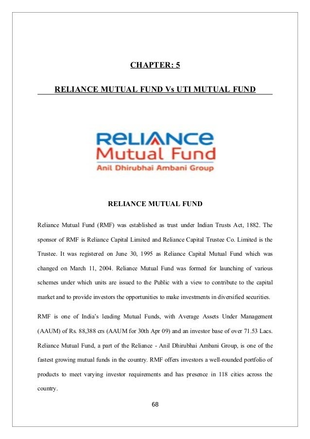 a study on mutual fund in Specific mutual funds and fund complexes was gathered in field studies at a  2  mutual fund denotes a company which offers or has offered securities to the.