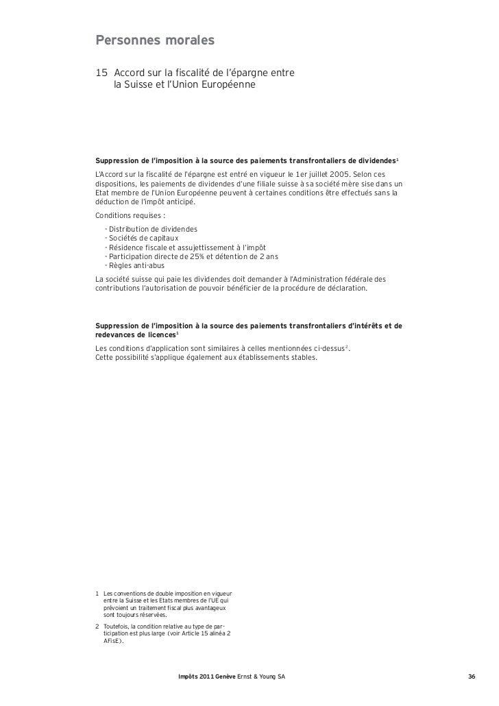 Impôts 2011 Genève