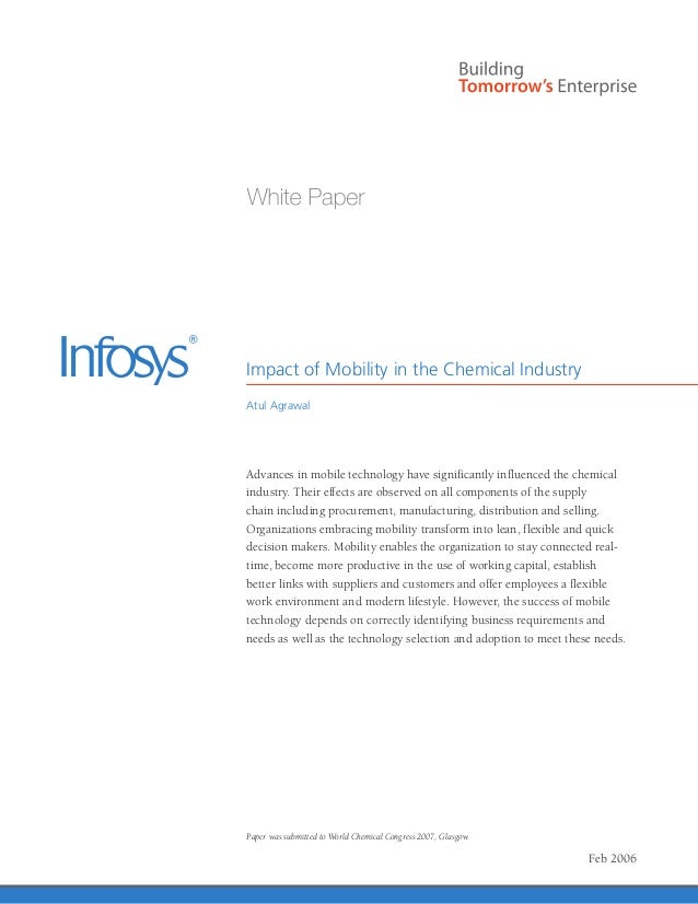Impact of Mobility in the Chemical IndustryAtul AgrawalAdvances in mobile technology have significantly influenced the che...