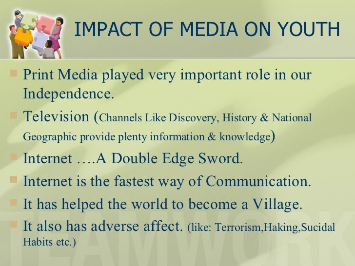 effect of media on youth essays Essay about influence of media on youth (creative writing prompts based on pictures) ako'y na representative sa essay writing haha essay on honesty in english how to.