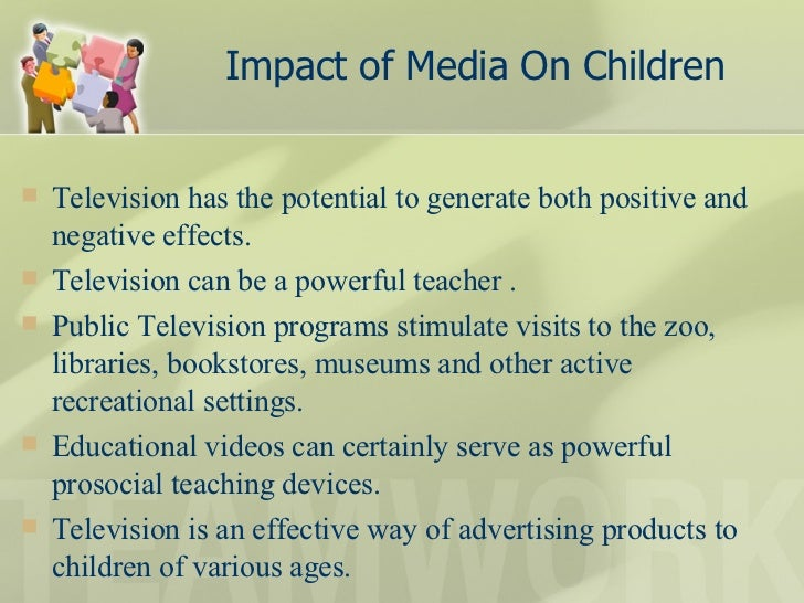 effects media children essay Negative effects of electronic media on society and culture the negative effects of media in particular on children are manifested in terms of their changing mental set-up and the declining quality of their lifestyle positive effects of electronic media on society and culture | essay.