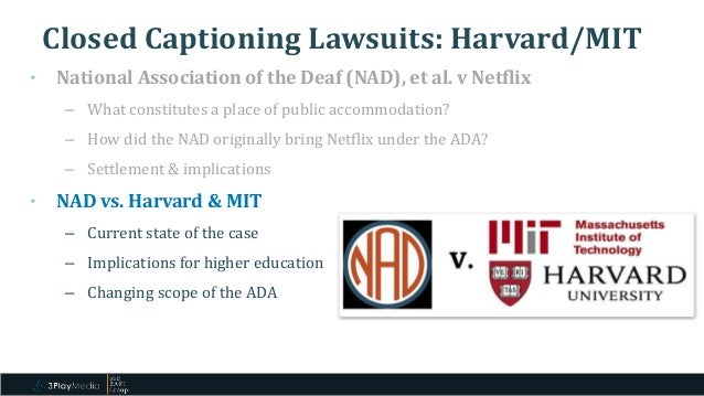 The Impact Of Recent Lawsuits On Video Accessibility