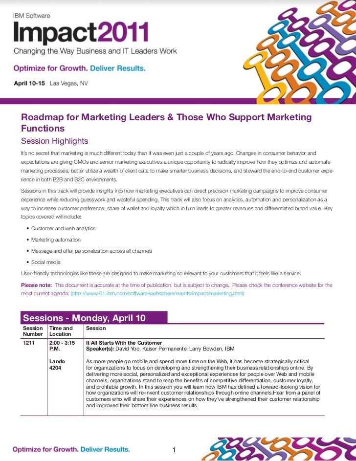 Roadmap for Marketing Leaders & Those Who Support MarketingFunctionsSession HighlightsIt's no secret that marketing is muc...
