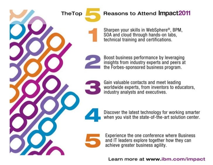 Top 5 Reasons to Attend IBM Impact 2011