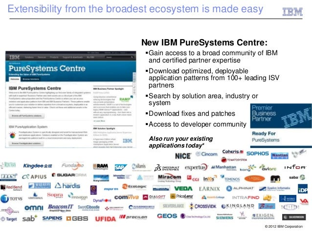 Extensibility from the broadest ecosystem is made easy                            New IBM PureSystems Centre:             ...