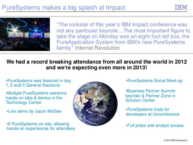 """PureSystems makes a big splash at Impact                          """"The rockstar of this year's IBM Impact conference was  ..."""