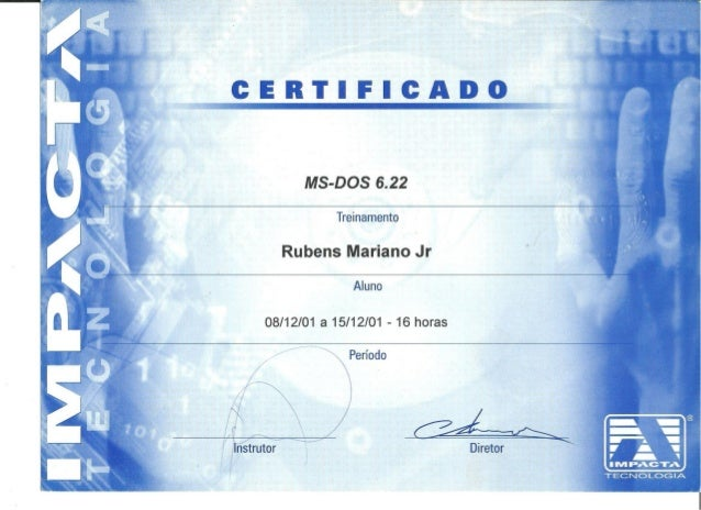 Certificado Impacta Tecnologia