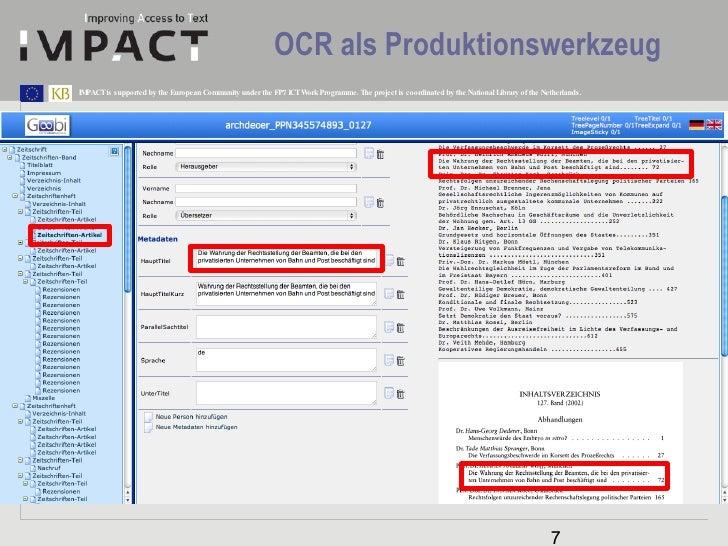 OCR als Produktionswerkzeug