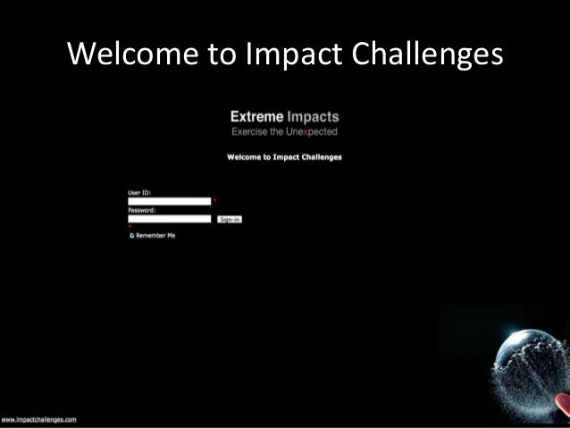 Welcome to Impact Challenges