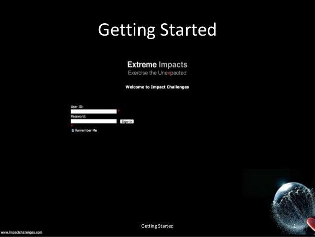 Getting Started  impactchallenges.com v1  Getting Started  1