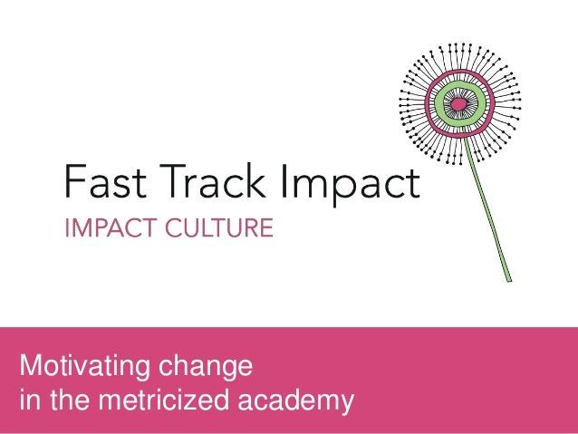 Motivating change in the metricized academy
